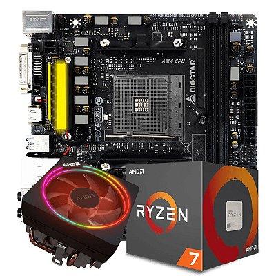 KIT UPGRADE A320M-S2H + PROCESSADOR RYZEN 7 2700X + 8GB DDR4 HYPERX