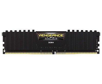 MEMORIA CORSAIR VENGEANCE LPX PRETO 16GB (1X16) 3000MHZ DDR4 - CMK16GX4M1D3000C16