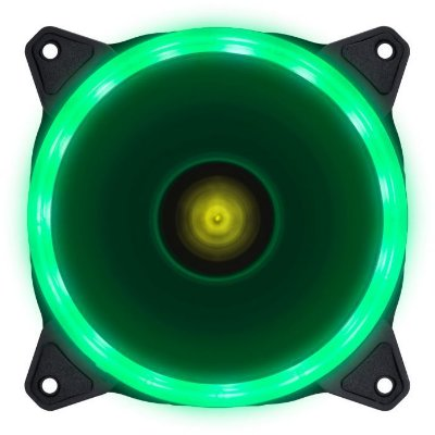 COOLER FAN PARA GABINETE VINIK VX GAMING V.RING, 120MM, LED VERDE - 29566