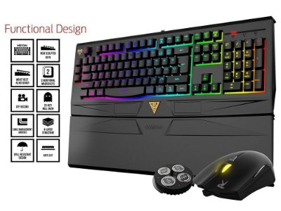 KIT TECLADO E MOUSE GAMDIAS ARES MULTICOLOR ARES + OUREA