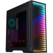 GABINETE GAMER GAMEMAX INFINIT M908 GGM RGB BLACK MID TOWER S/FONTE