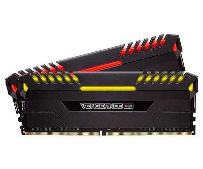 MEMÓRIA CORSAIR VENGEANCE PRETA RGB (2X8GB) 3000MHZ DDR4