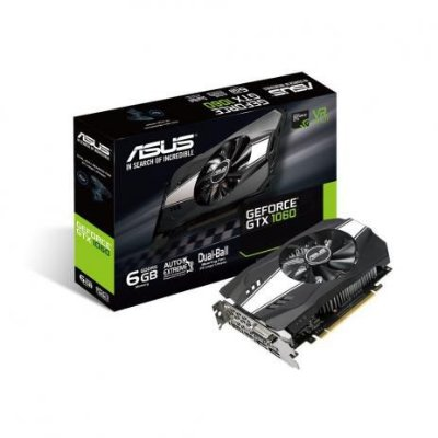 Placa de Video Geforce GTX 1060 6GB DDR5  ASUS - PH-GTX1060-6G