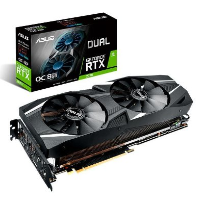 PLACA DE VIDEO ASUS GEFORCE RTX 2070 DUAL OC 8GB GDDR6, DUAL-RTX2070-O8G