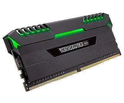MEMÓRIA CORSAIR VENGEANCE RGB 32GB (2X16) 2666MHZ DDR4