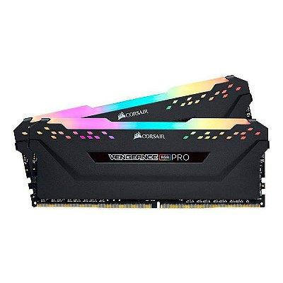 MEMORIA CORSAIR VENGEANCE RGB PRO 16GB (2X8) 3600MHZ DDR4 PRETA - CMW16GX4M2C3600C18