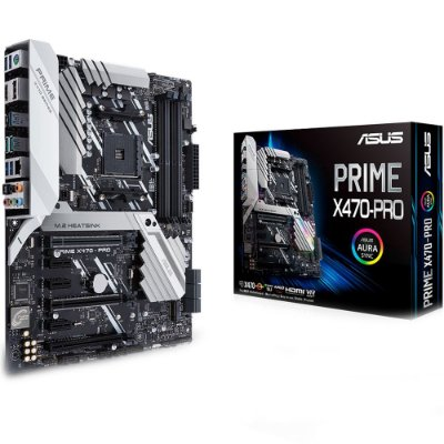 Placa-Mãe ASUS PRIME X470-PRO para AMD AM4 ATX DDR4