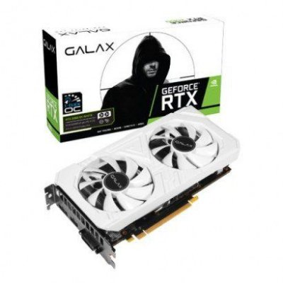 PLACA DE VÍDEO GALAX GEFORCE RTX 2060 EX WHITE, 6GB GDDR6, PCI-EXP - 26NRL7HPY3EW