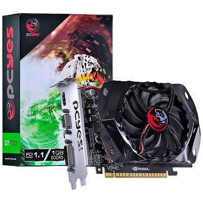 Placa de Vídeo VGA PCYes NVIDIA GeForce GT 730, 1GB, GDDR5, 128 Bits, PCI-E 1.0 - PY730GT12801G5