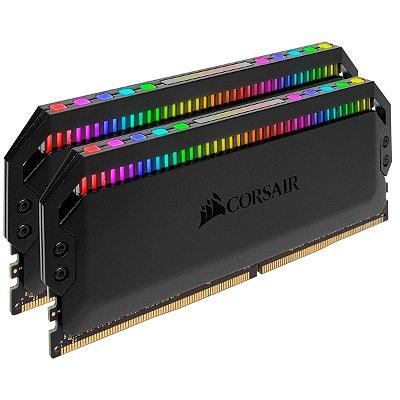 Kit Memória DOMINATOR PLATINUM RGB 16 GB (2x8 GB) DDR4 DRAM 3.600 MHz C18 - CMT16GX4M2C3600C18