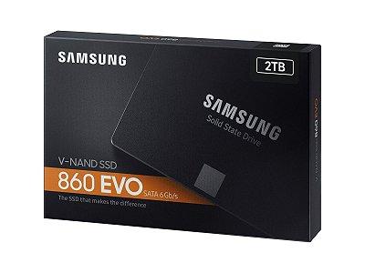"SSD 2TB SAMSUNG 860 EVO V-NAND 2,5 ""SATA III 6Gb - MZ-76E2T0B/AM"