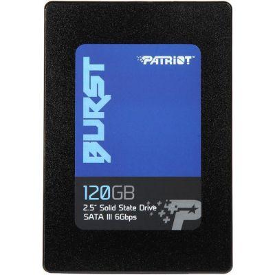 "SSD PATRIOT BURST 120GB 2.5"" LEITURAS: 560MB/S E GRAVAÇÕES: 540MB/S SATA III, PE000541-PBU120GS25SSDR"