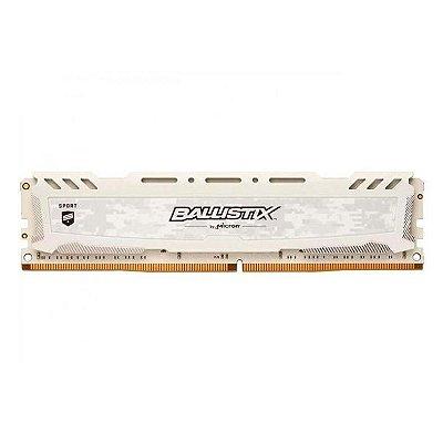 MEMORIA CRUCIAL BALLISTIX SPORT LT 16GB DDR4 2666MHZ BRANCA, BLS16G4D26BFSC