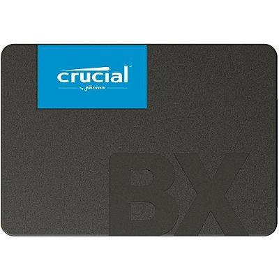 SSD Crucial BX500 480GB 2.5´ SATA III 6Gb/s Leituras: 540MB/s e Gravações: 500MB/s - CT480BX500SSD1