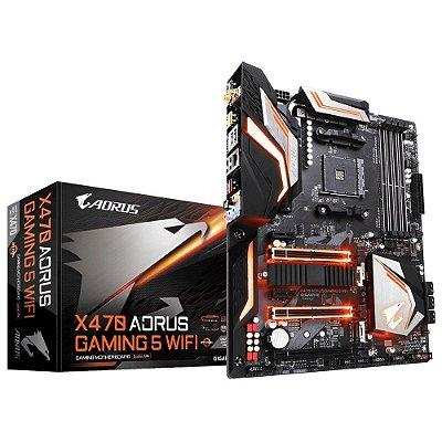 PLACA MAE GIGABYTE X470 AORUS GAMING 5 WIFI, DDR4 SOCKET AM4 CHIPSET AMD X470
