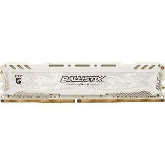 MEMÓRIA CRUCIAL BALLISTIX SPORT 8GB 3200MHZ DDR4 WHITE, BLS8G4D32AESCK
