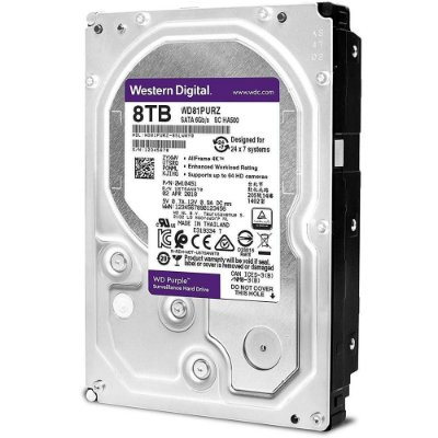 HD WD PURPLE 8TB SURVEILLANCE 3.5´ SATA 6Gb s - WD82PURZ