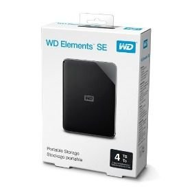 HD EXTERNO WD ELEMENTS SE 4TB USB 3.0 - WDBJRT0040BBK