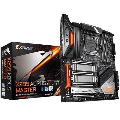 PLACA MÃE GIGABYTE X299 AORUS MASTER INTEL, Rev.1.0, LGA 2066  DDR4