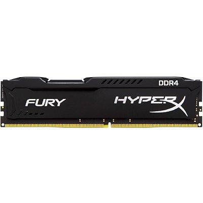 MEMÓRIA KINGSTON HYPERX FURY 4GB 2666MHz DDR4, PRETO  - HX426C15FB/4