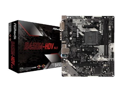 PLACA MÃE B450M-HDV R4.0 ASROCK, AMD SOCKET AM4