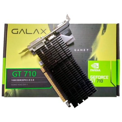 PLACA DE VÍDEO GALAX GEFORCE GT 710 1GB, DDR3 PCI-E 2.0, 71GGF4DC00WG