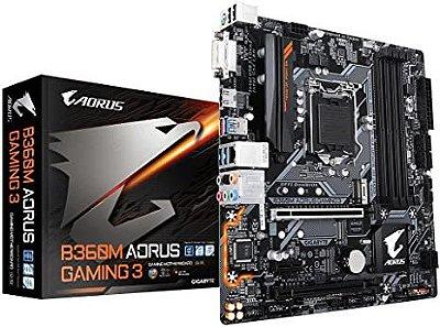 KIT UPGRADE B360M AORUS + PROCESSADOR CORE I3 9100F 9ª GERAÇÃO + 8GB DDR4 HYPERX