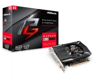 PLACA DE VIDEO ASROCK PHANTOM GAMING RADEON RX 550 2GB GDDR5 128-BIT, 90-GA0500-00UANF