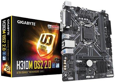 PLACA MÃE H310M DS2 2.0 GIGABYTE, INTEL LGA 1151 DDR4