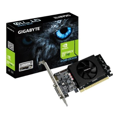 PLACA DE VÍDEO GIGABYTE GEFORCE GT 710 2GB GDDR5, GV-N710D5-2GL