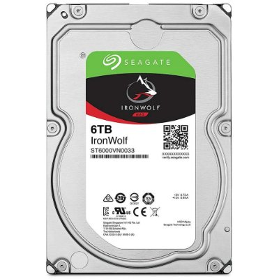 HD INTERNO SEAGATE IRONWOLF 6TB, 3.5´, SATA - ST6000VN0033