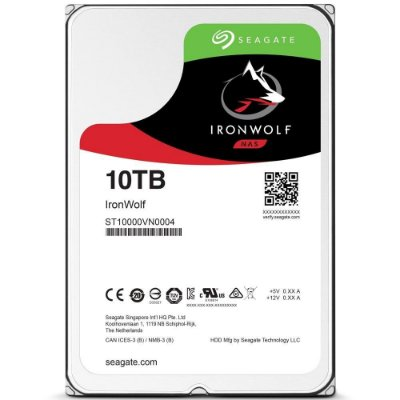 HD INTERNO SEAGATE 10TB IRONWOLF, 3.5´, SATA - ST10000VN0004