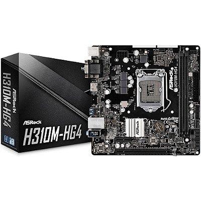 PLACA MÃE ASROCK H310M-HG4, INTEL LGA1151, DDR4, 90-MXB7V0-A0BAYZ