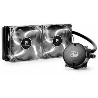 WATER COOLER GAMERSTORM DEEPCOOL MAELSTROM 240T, 240MM, INTEL-AMD, LED BRANCO, DP-GS-H12RL-MS240TWFAM4