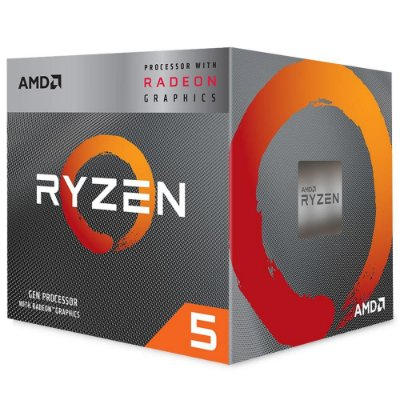 PROCESSADOR AMD RYZEN 5 3400G, CACHE 4MB, 3.7GHz (4.2GHz Max Turbo), AM4,  YD3400C5FHBOX