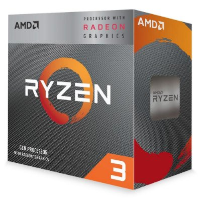 PROCESSADOR RYZEN 3 3200G, CACHE 4MB, 3.6GHz (4GHz Max Turbo), AM4, YD3200C5FHBOX