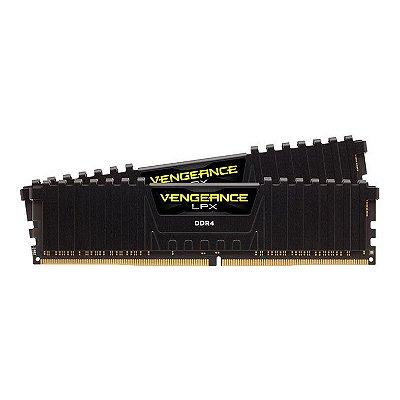 MEMÓRIA CORSAIR VENGEANCE LPX 16GB (2X8GB) 3200MHZ, DDR4, PRETA, CMK16GX4M2B3200C16