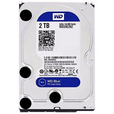 HD WD BLUE 2TB, 3.5´, SATA, CACHE 64MB - WD20EZRZ