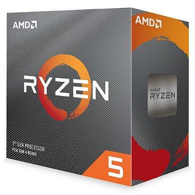 PROCESSADOR AMD RYZEN 5 3600, CACHE 32MB, 3.6GHz (4.2GHz Max Turbo) AM4, Sem Vídeo - 100-100000031BOX