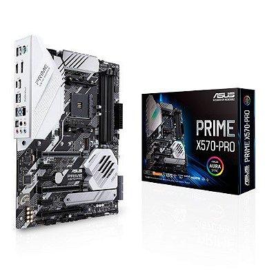 PLACA MÃE ASUS PRIME X570-PRO, AMD AM4, ATX com PCIe 4.0, DDR4 4400MHz