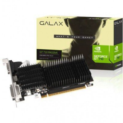 PLACA DE VÍDEO GALAX GEFORCE GT 710 2GB, DDR3, 64Bit, LOW PROFILE - 71GPF4HI00GX