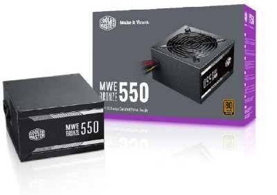 FONTE COOLER MASTER MWE 550W, 80 PLUS BRONZE, PFC ATIVO - MPE-5501-ACAAB-BR