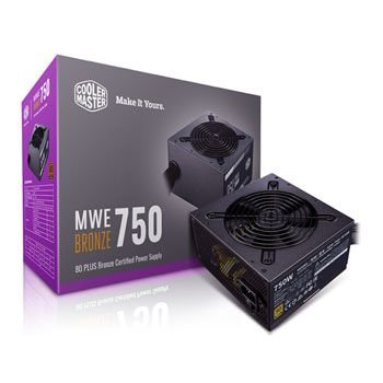 FONTE COOLER MASTER MWE 750W, 80 PLUS BRONZE, PFC ATIVO - MPE-7501-ACAAB-BR
