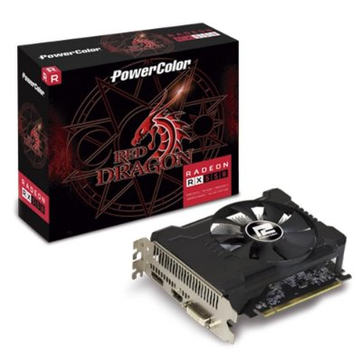 PLACA DE VÍDEO POWERCOLOR RADEON RX 550 2GB, GDDR5, RED DRAGON, AMD - AXRX 550 2GBD5-DHA/OC