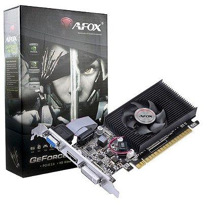 PLACA DE VÍDEO AFOX GEFORCE G210 1GB, DDR3, 64 BITS - AF210-1024D3L8