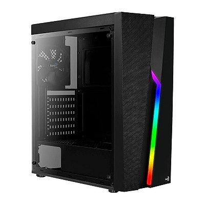 GABINETE GAMER AEROCOOL BOLT, RGB, LATERAL ACRILICO PRETO - BOLT-A-BK-V1