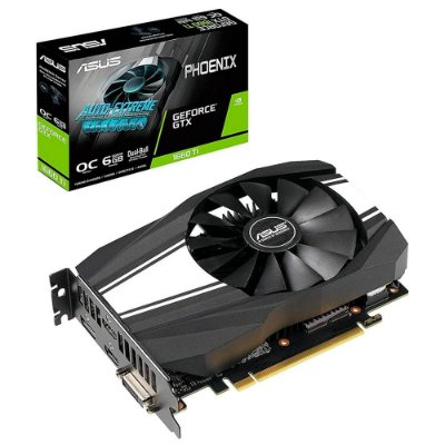 PLACA DE VÍDEO ASUS GEFORCE GTX 1660 TI, 6GB GDDR6, PHOENIX OC - PH-GTX1660TI-O6G