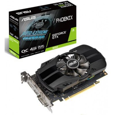 PLACA DE VÍDEO ASUS GEFORCE GTX 1650 OC, 4GB GDDR5, PHOENIX - PH-GTX1650-O4G