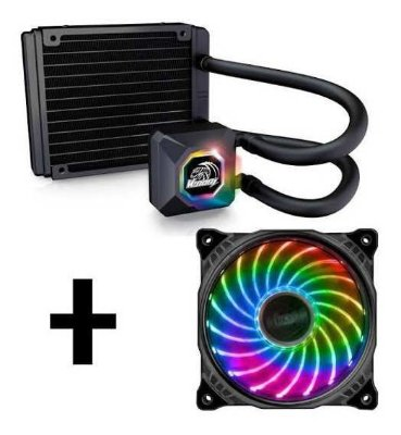 WATER COOLER AKASA VENOM R10, LED RGB, INTEL E AMD - AK-LC4001HS03