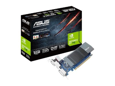 PLACA DE VÍDEO ASUS NVIDIA GEFORCE GT 710, 1GB GDDR5, LOW PROFILE - GT710-SL-1GD5